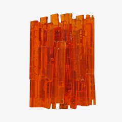 Large Orange Wall Light by Claus Bolby for CeBo Industri