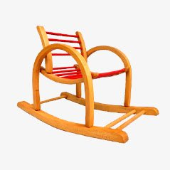 Vintage Children's Rocking Chair by Baumann