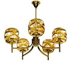 Modern Glass Pendant Light from Murano Italien, 1960s