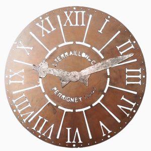 Grand Panneau d'Horloge en Fer avec Mains