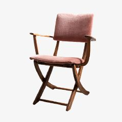 Italian Mid Century Chestnut Folding Chair
