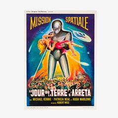 Vintage Filmposter Der Tag, an dem die Erde stillstand