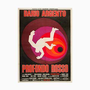 Vintage Italian Profondo Rosso Film Poster, 1975