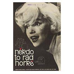 Poster vintage del film A qualcuno piace caldo, Repubblica Ceca, 1964