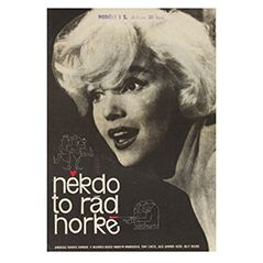 Tschechisches Vintage Filmplakat 'Manche mögen's heiß', 1964