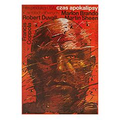 Vintage Polish 'Apocalypse Now' Film Poster, 1981