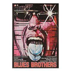 Polnisches Vintage Blues Brothers Filmposter von Leszek Drzewinski, 1982