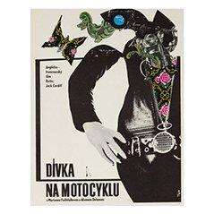 Poster vintage del film Nuda sotto la pelle di Stanislav Vajce, Repubblica Ceca, 1969
