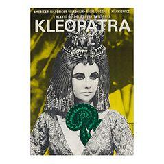 Vintage Czech Cleopatra Film Poster by Jiří Hilmar, 1966
