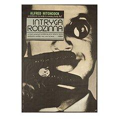 Poster vintage del film Complotto di famiglia di Andrzej Klimowski, Polonia, 1977