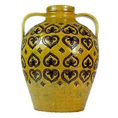 Gelbe Italienische Keramikvase von Aldo Londi für Bitossi, 1960er