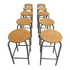 Industrial Stools by Ahrend de Cirkel, Set of 10