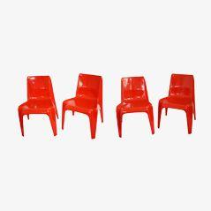 BA1171 Beistellstühle von Helmut Bätzner für Bofinger,1964, 4er Set