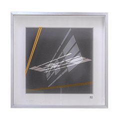 Serigraph on Paper and Plexiglass by Grazia Varisco, 1973