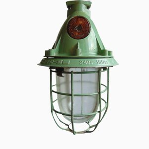 Vintage Russian Industrial Bunker Light from Russia