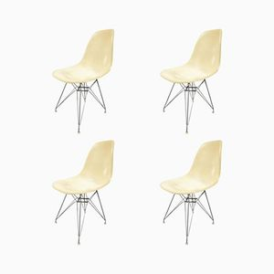 Beige Dining Chairs by Charles Eames for Herman Miller, 1960s, Set of 4