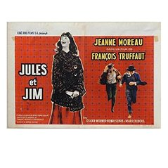 'Jules et Jim' Belgian Movie Poster by Edicolor