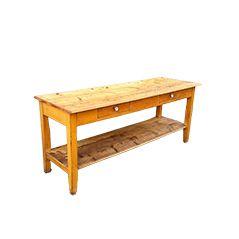 German Vintage Oak Work Table