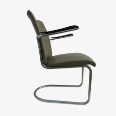 Vintage Tubular Arm Chair from Gebroeders de Wit