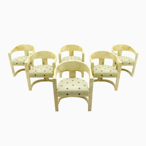 Dining Room Chairs by Karl Springer, 1984, Set of 6