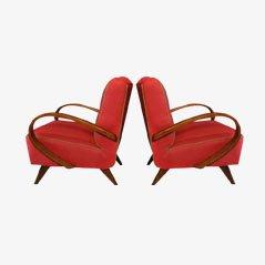 Mid Century Armlehnstühle von Jindrich Halabala, 2er Set