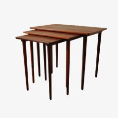 Danish Rosewood Nesting Tables, Set of 3