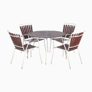 Danish Garden Table and Garden Chairs by BKS Denmark, Set of 5