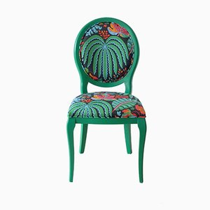 Beechwood Chair with Tropical Sanderson Fabric by Photoliu, 2015