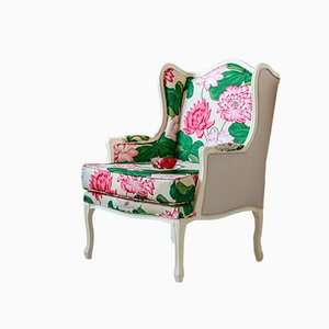 Beechwood Armchair with Floral Sanderson Fabric, 2015