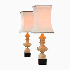 Pagodenförmige Tischlampen von James Mont, 2er Set