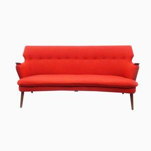 Orange Mid Century Sofa by Kurt Olsen