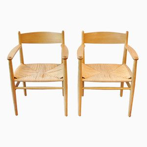 CH37 Armchairs by Hans J. Wegner for Carl Hansen & Søn, Set of 2
