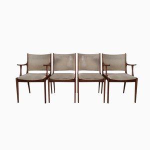 Teak Dining Chairs by Johannes Andersen for Uldum Mobelfabrik, Set of 4