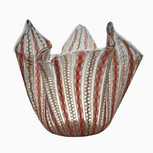 Vintage Fazoletto Vase von Bianconi und Venini für Venini