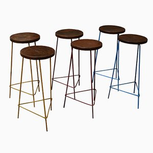 Stools by Pierre Jeanneret, 1961, Set of 6