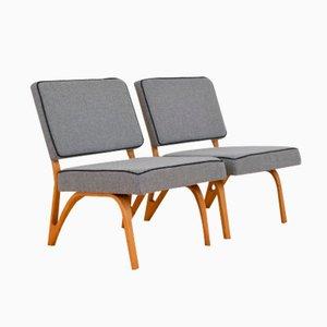 Vintage Lounge Chairs by Paul Bode for Deutsche Federholzgesellschaft, Set of 2