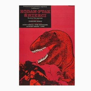 Die fliegenden Monster von Osaka Filmplakat von Janusz Rapnicki, 1967