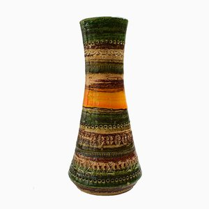 Mid Century Keramik Vase von Aldo Londi für Bitossi, 1970