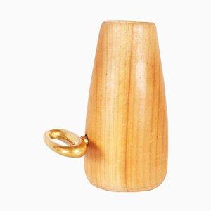 Zahnstocherbehälter aus Holz mit Korkenzieher von Carl Auböck