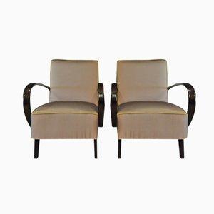 Malvenfarbige Lounge Sessel von Jindrich Halabala für Thonet, 1940er, 2er Set
