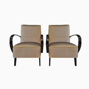 Mauve Lounge Chairs by Jindrich Halabala for Thonet, 1940s, Set of 2