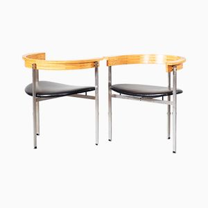 PK11 Lounge Chairs by Poul Kjaerholm for Fritz Hansen, Set of 2