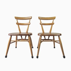 Vintage British School Chairs from Ercol, Set of 2