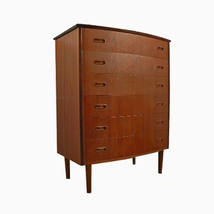 Vintage Danish Teak Chest with 6 Drawers