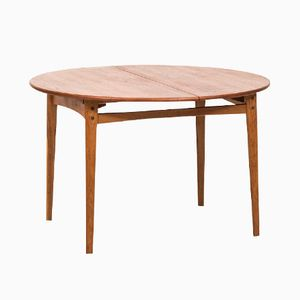 Extendable Teak and Oak Dining Table