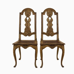 Antique Swedish Baroque Chairs, Set of 2