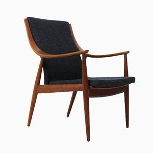 Modell 48 Teak Sessel von Peter Hvidt & Orla Molgaard Nielsen für France & Søn