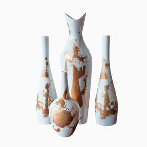 Vases en Porcelaine par Bjorn Wiinblad pour Rosenthal Studio, Set de 4