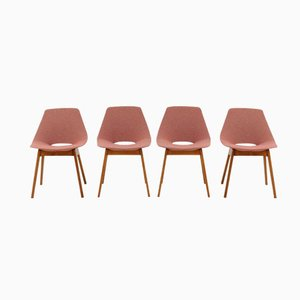 Modell Tonneau Stühle von Pierre Guariche für Steiner, 4er Set