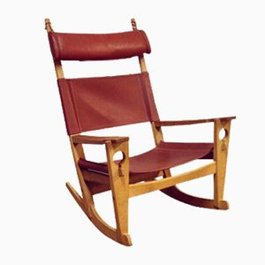 GE673 Keyhole Rocking Chair by Hans Wegner